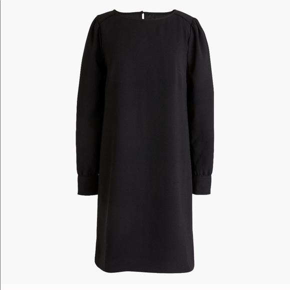 J. Crew Dresses & Skirts - J.Crew Long-Sleeve Shift Dress in Everyday Crepe